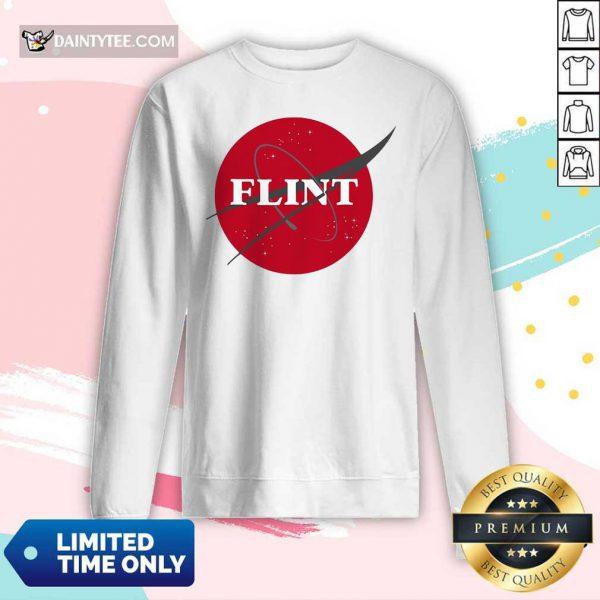 Nasa Flint Made To Match Jordan 13 Red Flint Long-sleeved