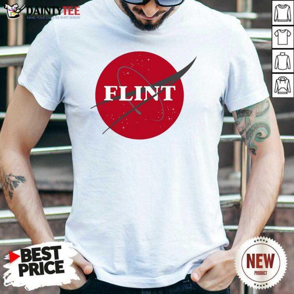 Nasa Flint Made To Match Jordan 13 Red Flint Shirt