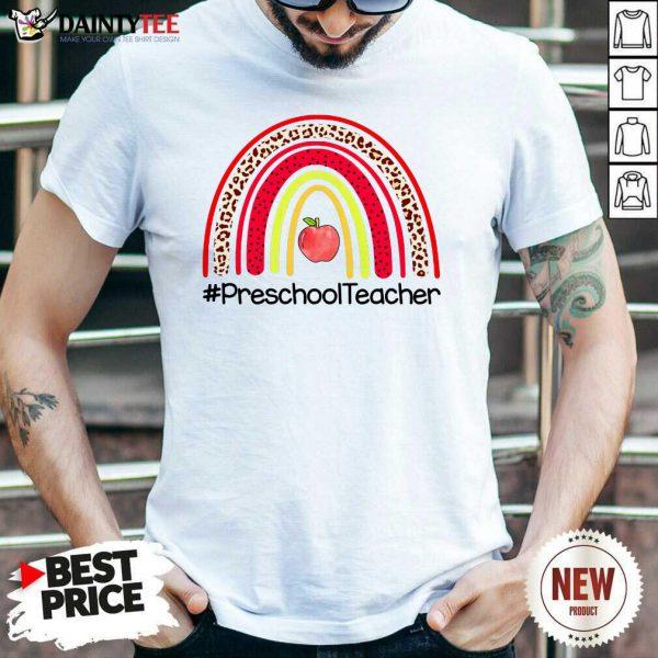 Rainbow Apple Preschool Teacher Shirt