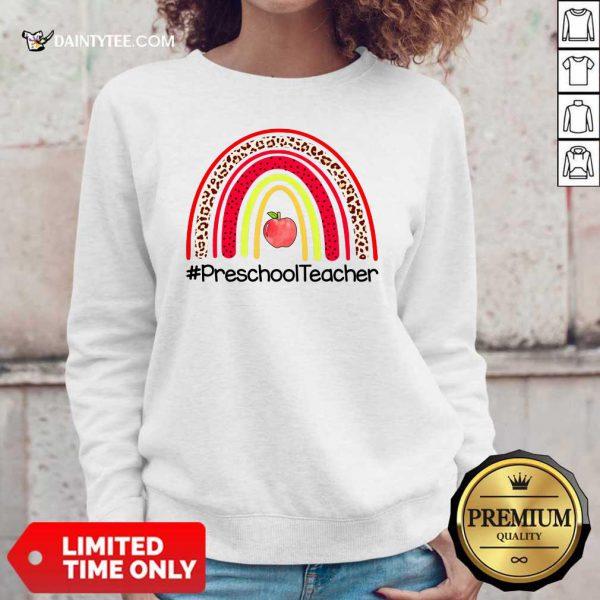 Rainbow Apple Preschool Teacher Sweater