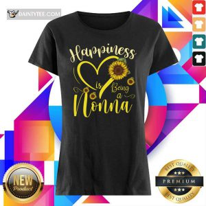 Top Heart Sunflower Happiness Is Being A Nonna Ladies Tee