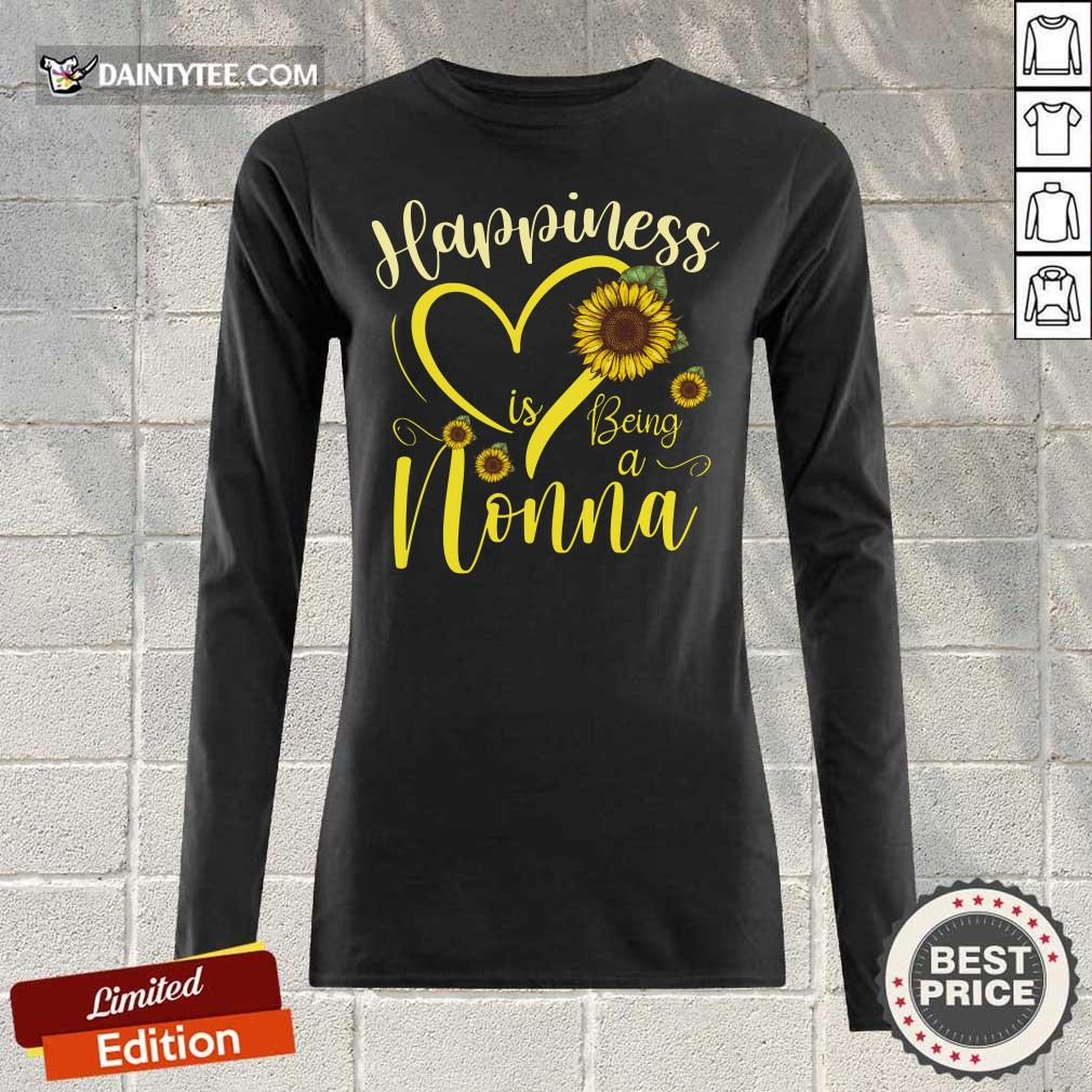 Top Heart Sunflower Happiness Is Being A Nonna Long-sleeved
