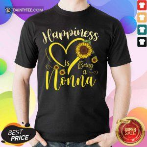 Top Heart Sunflower Happiness Is Being A Nonna Shirt
