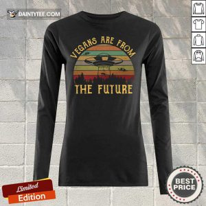 Vegans Are From The Future UFO Vintage Long-sleeved